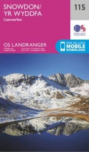 os map Landranger 115